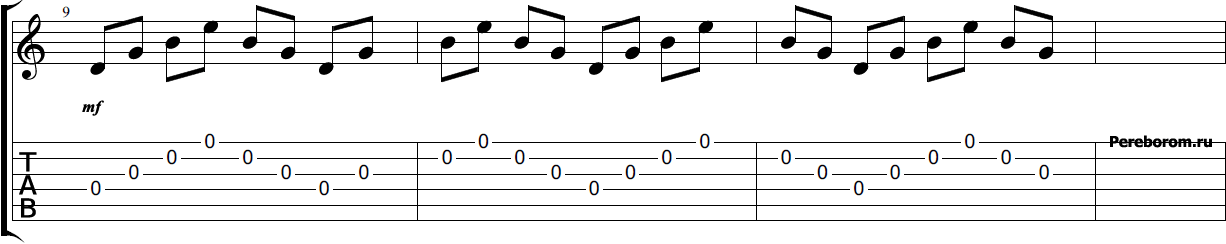 Тренировка на гитаре