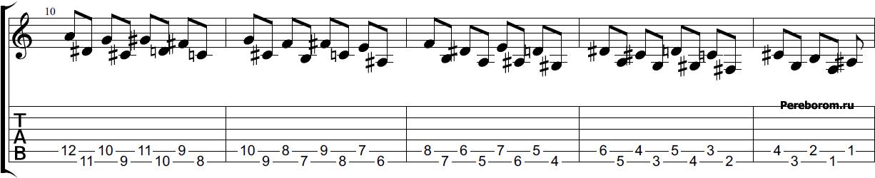 Тренировка на гитаре #3 змея вниз