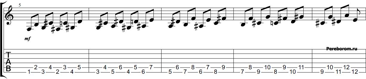 Тренировка на гитаре #3 змея вверх