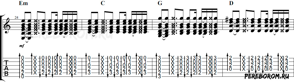 бой восьмерка на гитаре