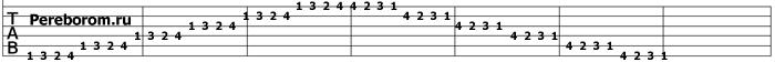упражнения для гитары 4