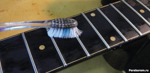 Чистка грифа. Чем протирать гитару 4
