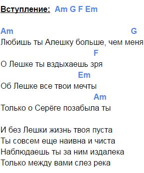 алешка аккорды 1