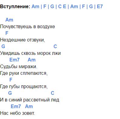 мельница волкодав аккорды 1