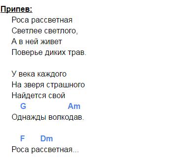 мельница волкодав аккорды 4