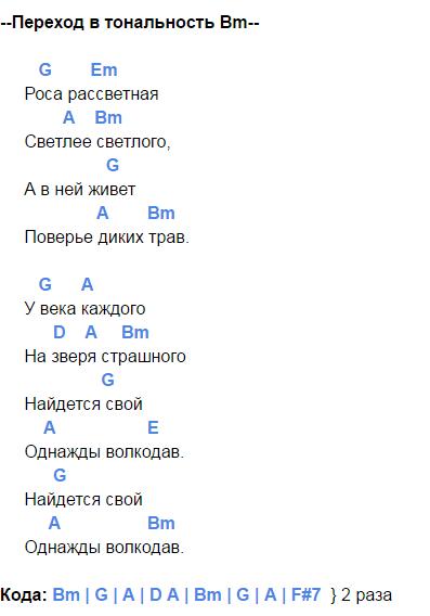 мельница волкодав аккорды 5