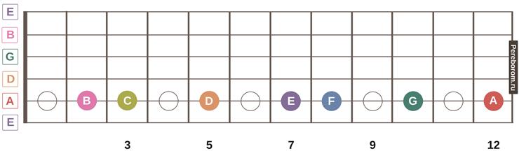 ноты на грифе гитары 3