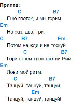 сплин танцуй аккорды 2