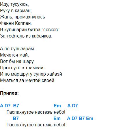 ветер в голове аккорды 4