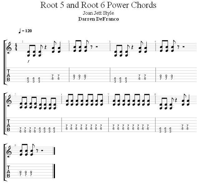 Квинт аккорды упражнение 1