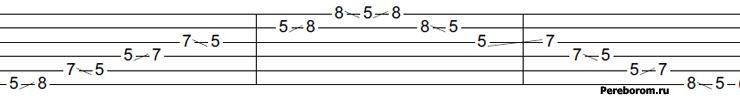 Слайд (Slide) - читаем табулатуры для гитары