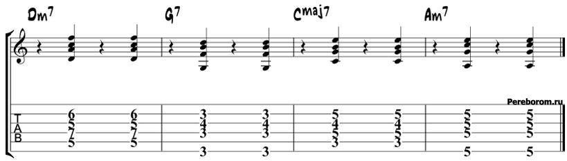 Джазовая последовательность аккордов