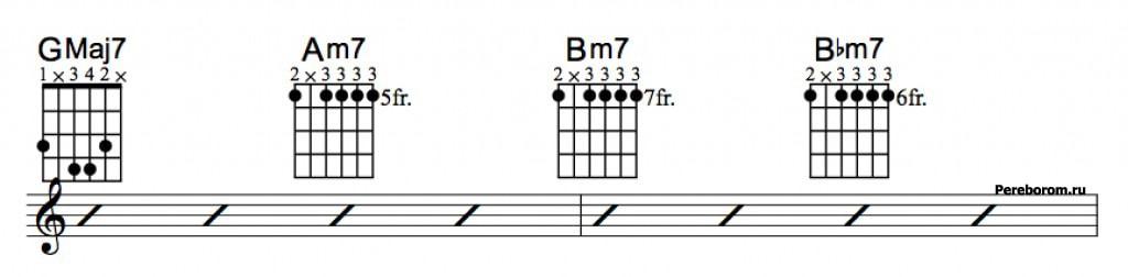 Джазовые аккорды 3_4