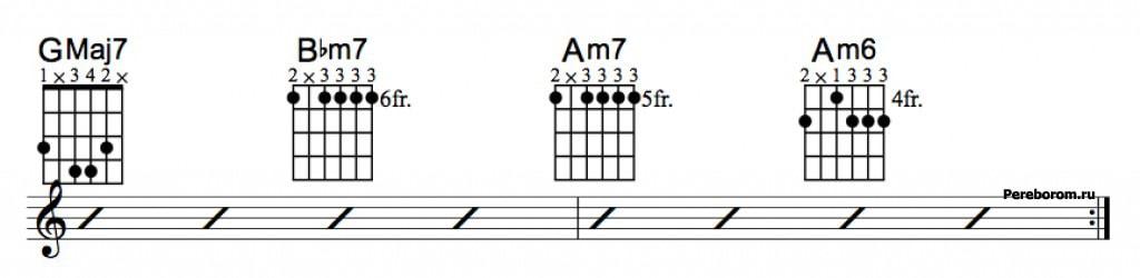 Джазовые аккорды 3_6