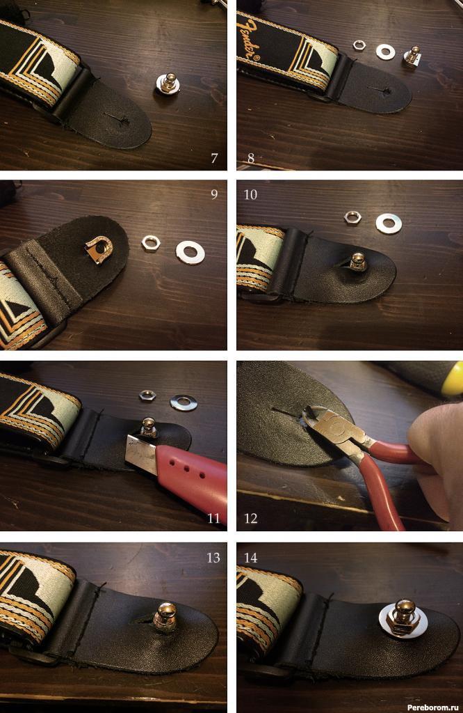 Как поставить стреплоки на электрогитару 3