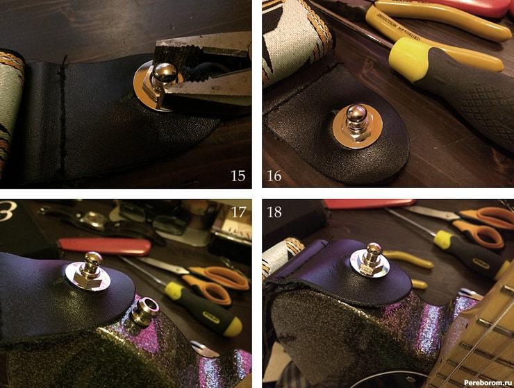 Как поставить стреплоки на электрогитару 4