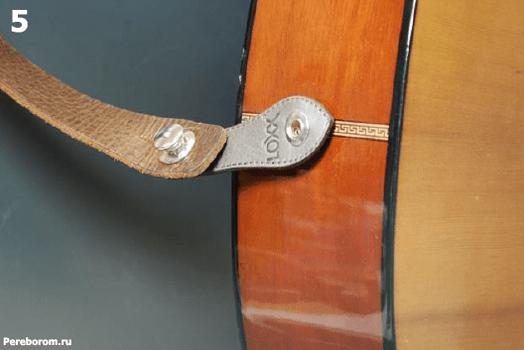 Установка Умного стреплока LOXX адаптера для электро акустической гитары 1_5