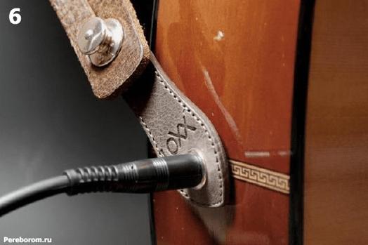 Установка Умного стреплока LOXX адаптера для электро акустической гитары 1_6