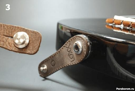Установка Умного стреплока LOXX адаптера на электрогитару 1_3