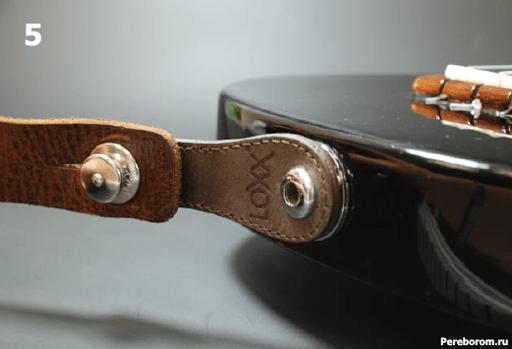 Установка Умного стреплока LOXX адаптера на электрогитару 1_5