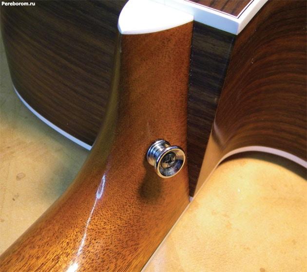 Установка стреплоков на акустическую гитару 7