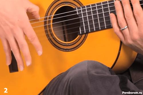 игра на гитаре фламенко - Расгеадо