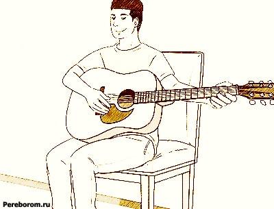 как держать гитару правше