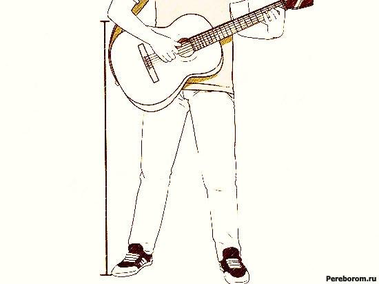 как правильно держать гитару 5