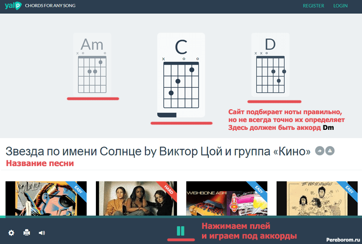 подбор аккордов онлайн