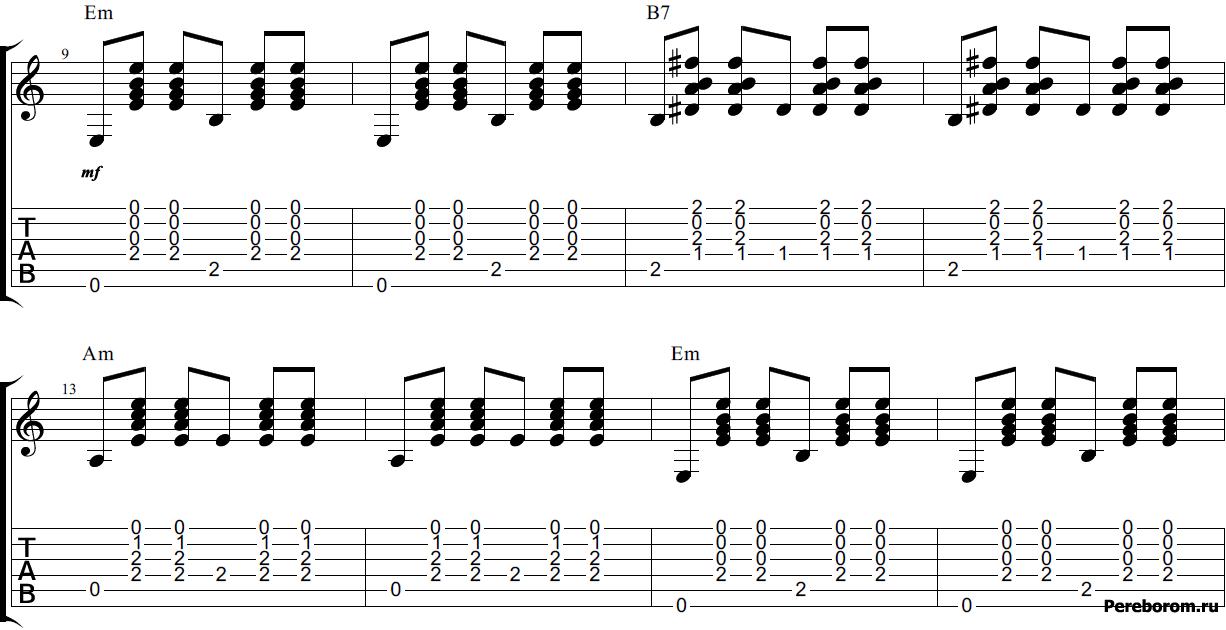вальсовый ритм на гитаре