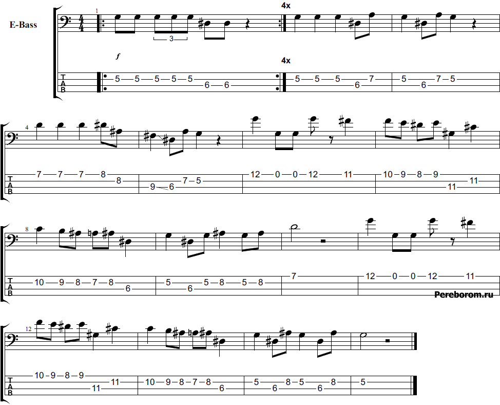 имперский марш на бас гитаре