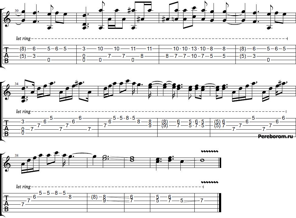 мелодия пираты карибского моря на гитаре
