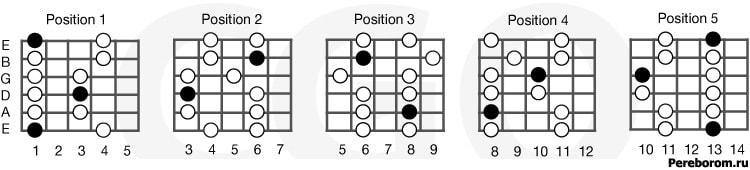 пентатоника 5 позиций