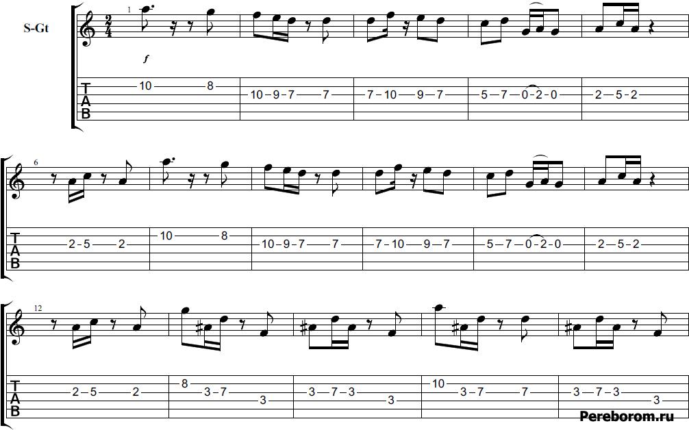 ламбада на гитаре на трех струнах