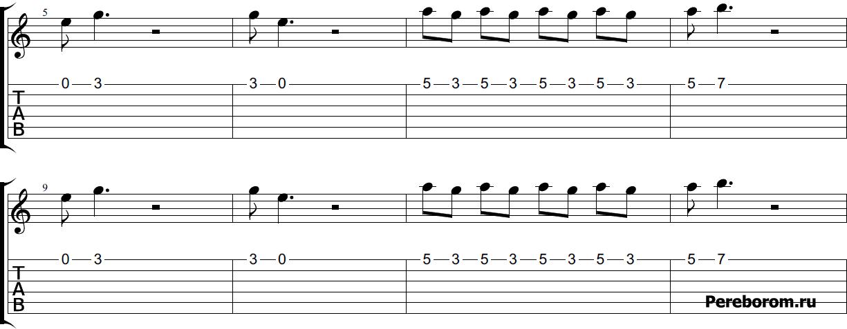 Бумер на одной струне гитары