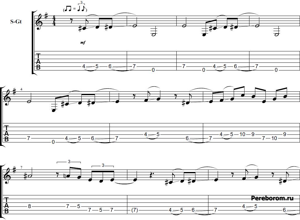 как играть розовую пантеру на гитаре
