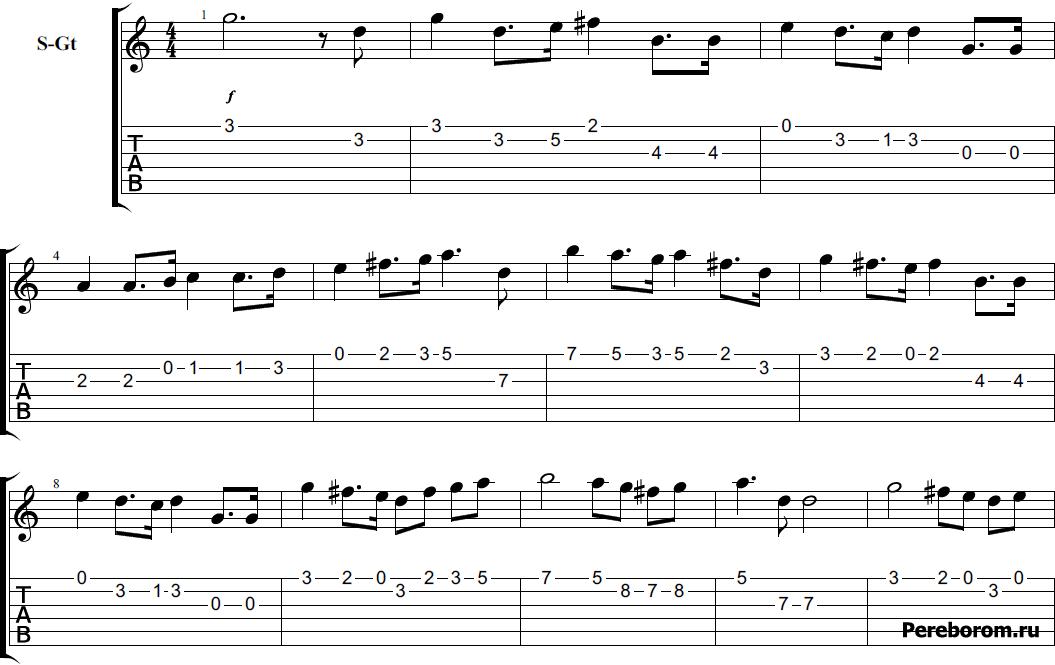 Гимн России на гитаре