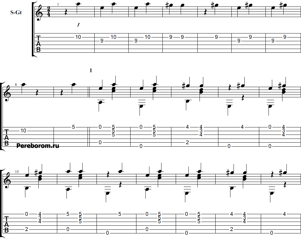 Кузнечик на гитаре