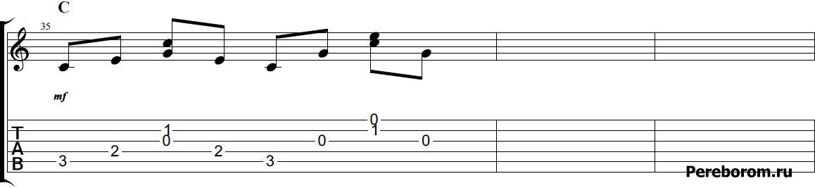арпеджио на гитаре