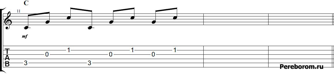 арпеджио аккордов на гитаре