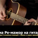 гамма ре мажор на гитаре