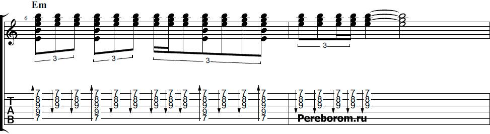чеченский бой на гитаре схема