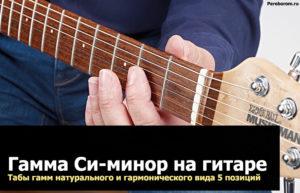 гамма си минор на гитаре