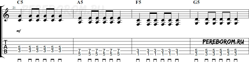 рок на акустической гитаре