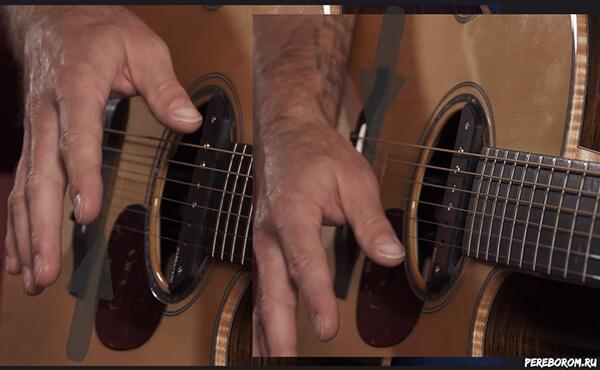 как играть правой рукой на гитаре