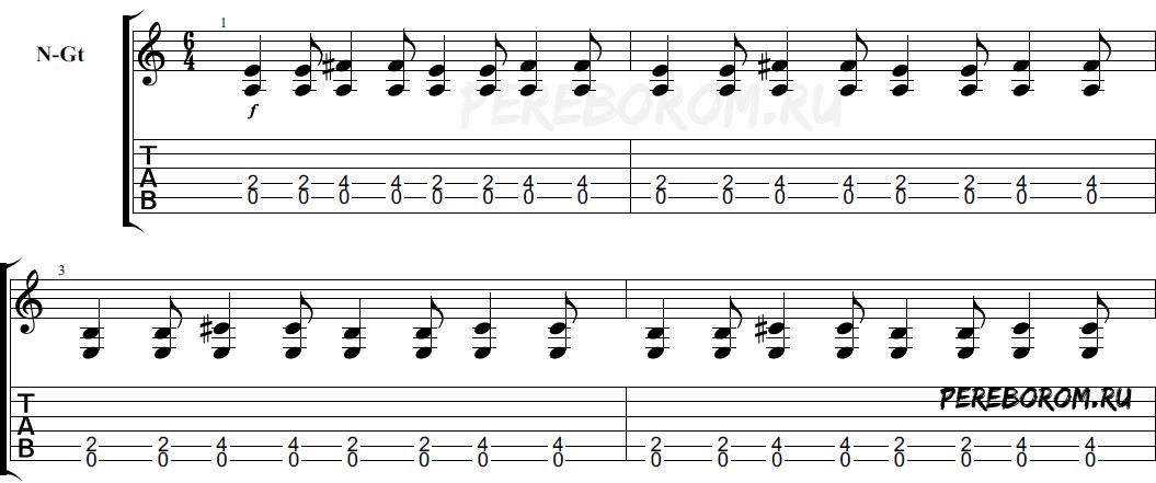 ритмические рисунки примеры