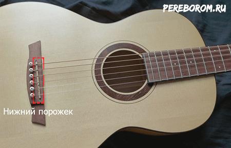 нижний порожек для гитары